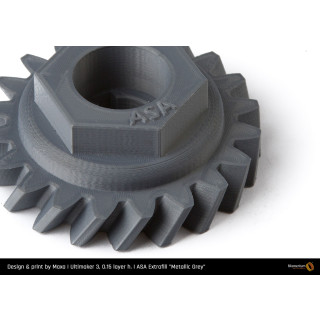 Fillamentum ASA Extrafill Metallic Grey - 1.75mm - 750g Filament