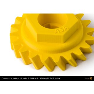 Fillamentum ASA Extrafill Traffic Yellow - RAL 1023 - 1.75mm - 750g Filament