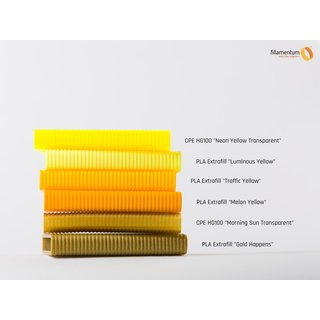 Fillamentum PLA Extrafill Traffic Yellow - 1.75mm - RAL 1023 - 750g Filament