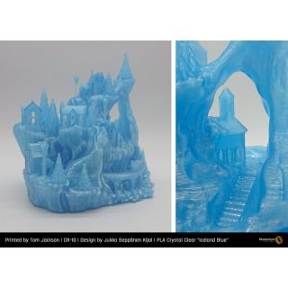 Fillamentum PLA Extrafill Crystal Clear Iceland Blue - 1.75mm - 750g Filament