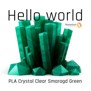 Fillamentum PLA Extrafill Crystal Clear Smaragd Green - 1.75mm - 750g Filament